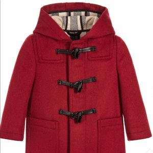 Burberry baby red wool duffle coat